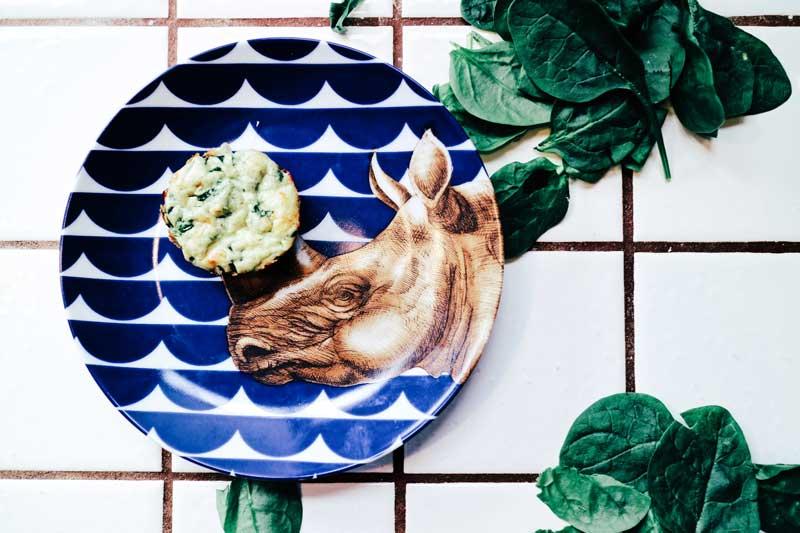 Маффины из шпината и творожного сыра