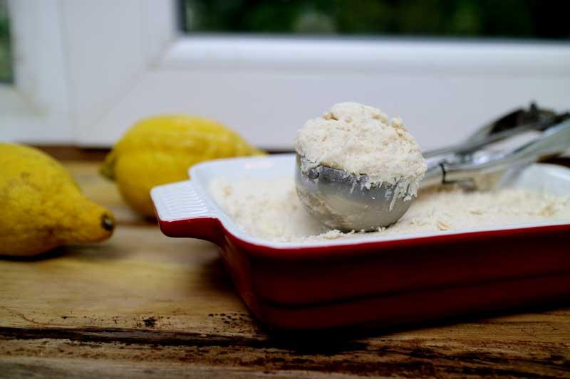 Кокосово-лимонный щербет
