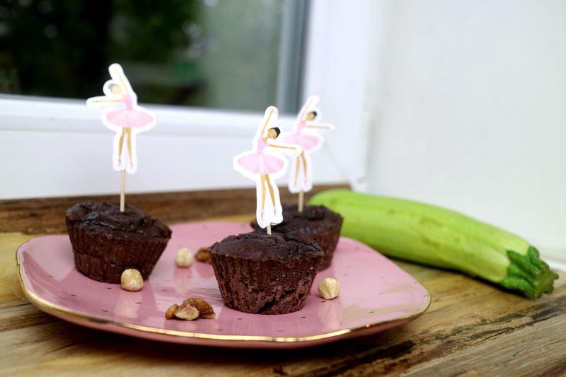 Шоколадные кето-маффины из цукини
