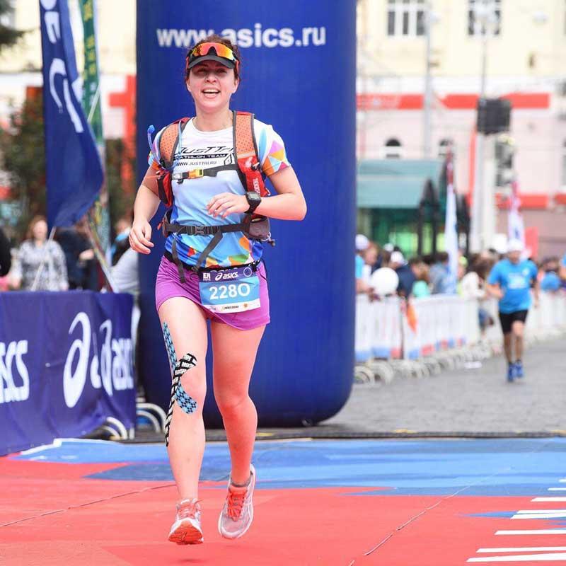 Финиш забега Европа-Азия в Екатеринбурге