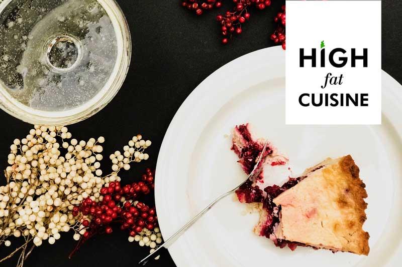 Рождественский пряный клюквенный LCHF-пирог