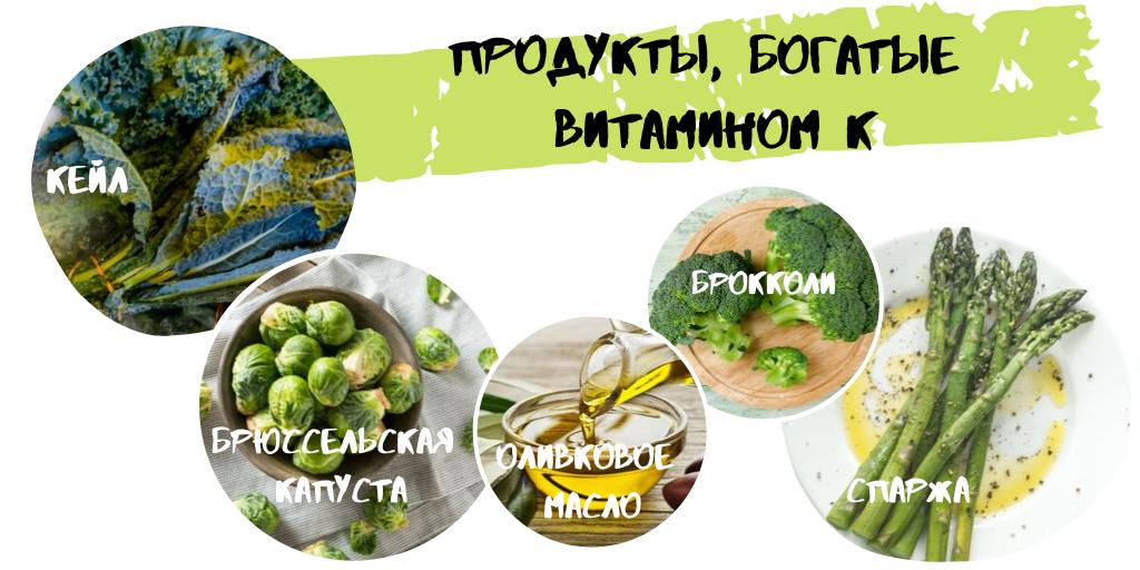 витамин к в каких продуктах
