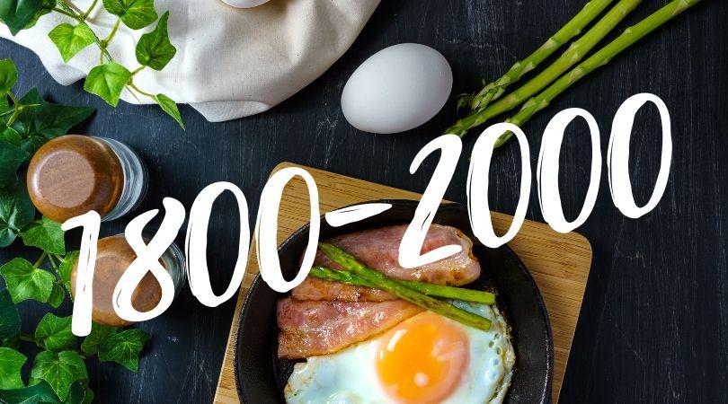 Кето меню на 1800-2000 калорий