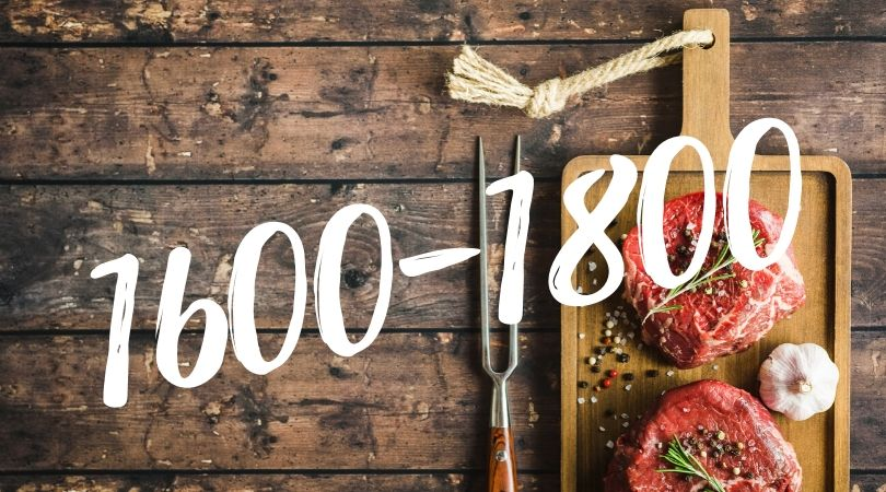 Кето меню на 1600-1800 калорий