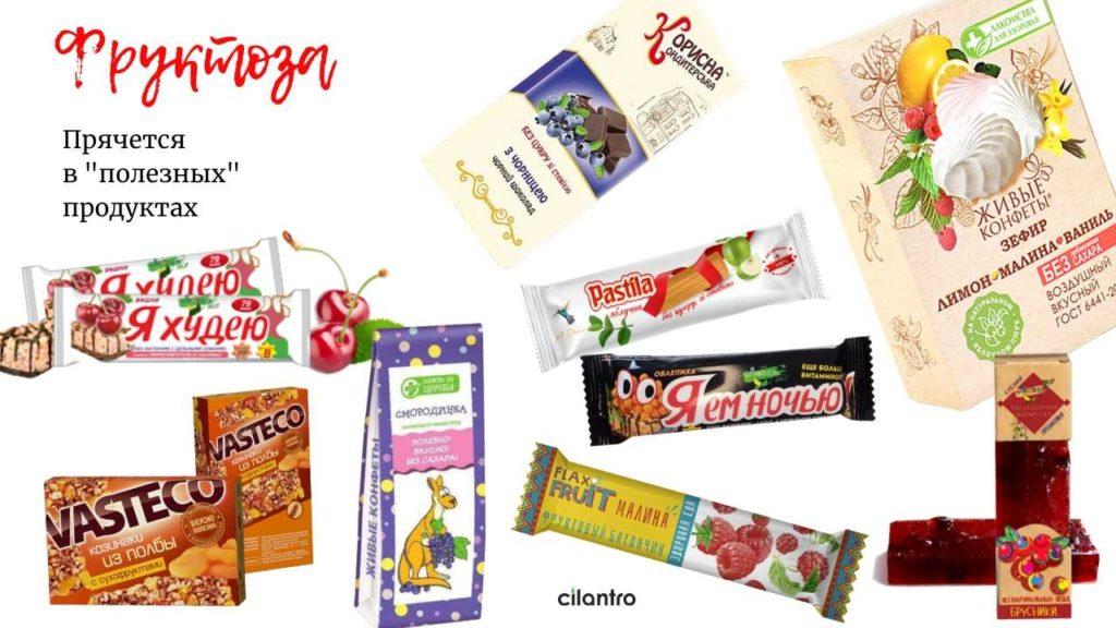 фруктоза в продуктах